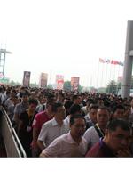 观众排队进入华夏展馆
