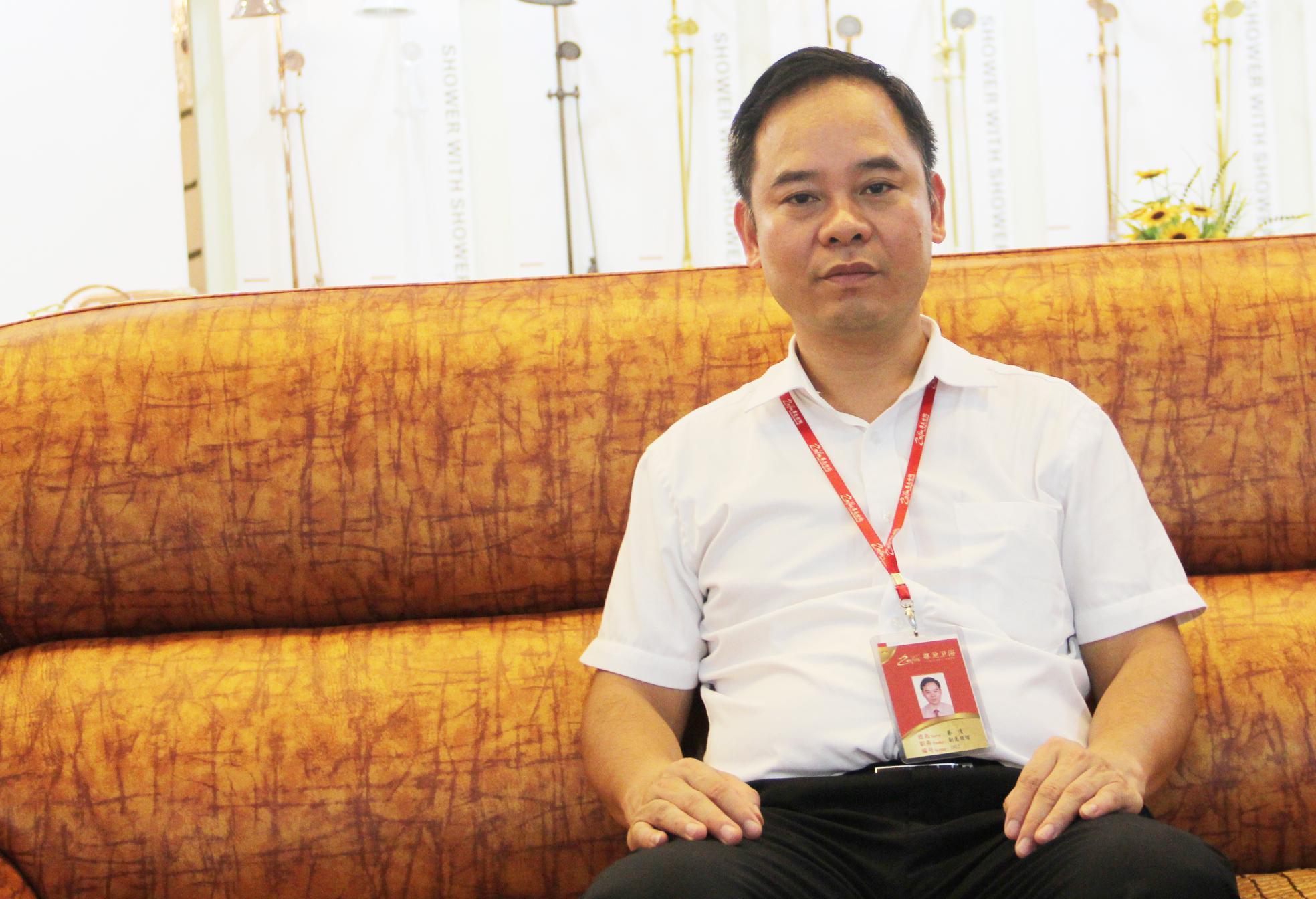 佛山市尊龙洁具有限公司副总经理蔡清